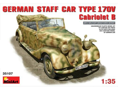 Miniart German Staff Car Typ 170V. Cabriolet B 1:35 (35107)