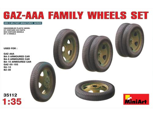 Miniart GAZ-AAA Family Wheels set 1:35 (35112)