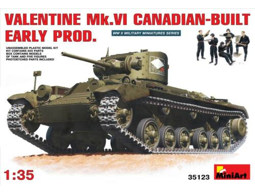 Miniart Valentine Mk 6. Canadian -built Early Prod. 1:35 (35123)