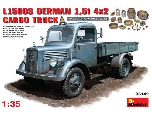Miniart L1500S. German 1,5t 4?2 Cargo Truck 1:35 (35142)