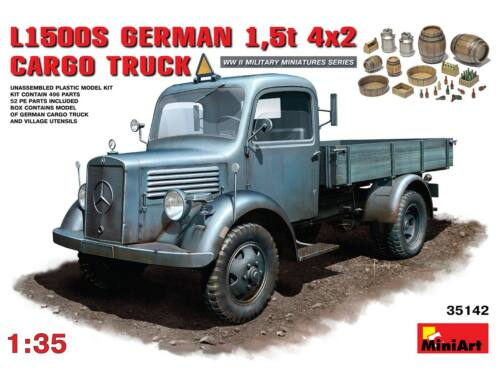 Miniart L1500S. German 1,5t 4?2 Cargo Truck 1:35 (35142)