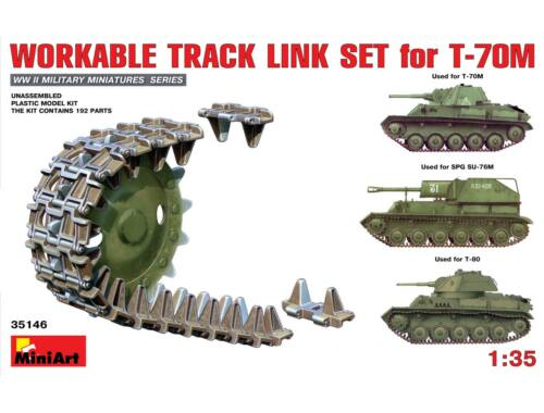 Miniart Workable Track Link Set for T-70M Light Tank 1:35 (35146)