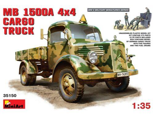 Miniart MB 1500A 4x4 Cargo Truck 1:35 (35150)
