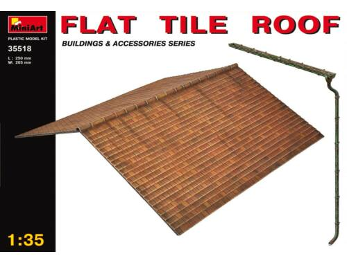 Miniart Flat Tile Roof 1:35 (35518)