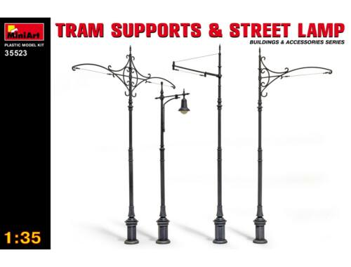 Miniart Tram Supports and Street Lamps 1:35 (35523)