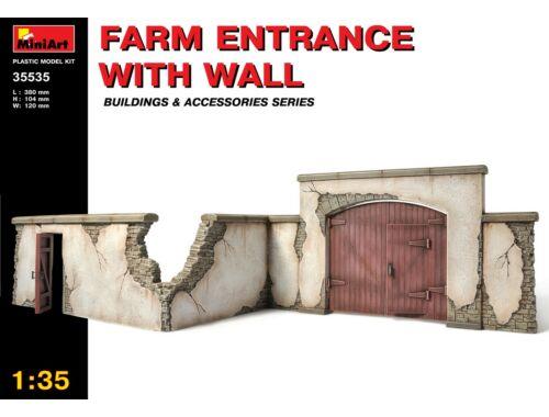 Miniart Farm Entrance with Wall 1:35 (35535)