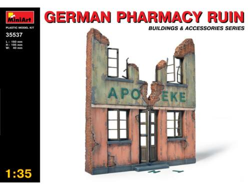 Miniart German Pharmacy Ruin 1:35 (35537)