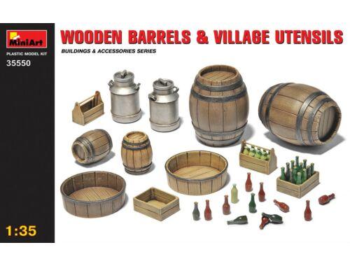 Miniart Wooden Barrels   Village Utensils 1:35 (35550)