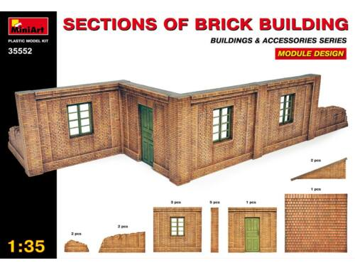 Miniart Sections of Brick Building. Module design. 1:35 (35552)