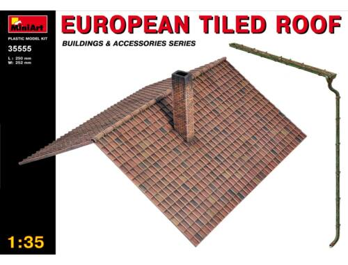 Miniart European Tiled Roof 1:35 (35555)