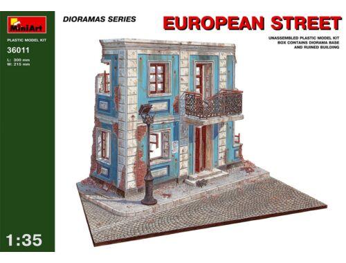 Miniart European street. 1:35 (36011)