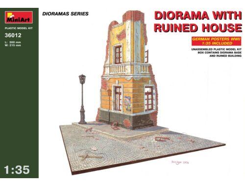 Miniart Diorama w/Ruined House 1:35 (36012)