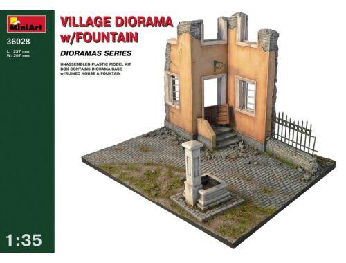 Miniart Village Diorama w/Fountain 1:35 (36028)