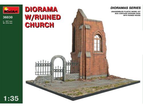 Miniart Diorama w/Ruined Church 1:35 (36030)