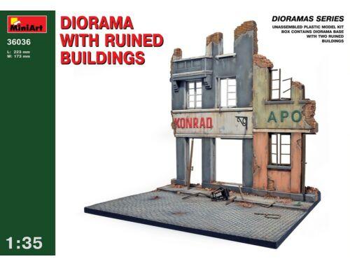 Miniart Diorama w/Ruined Buildings 1:35 (36036)