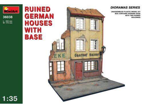 Miniart Ruined German Houses w/ Base 1:35 (36038)