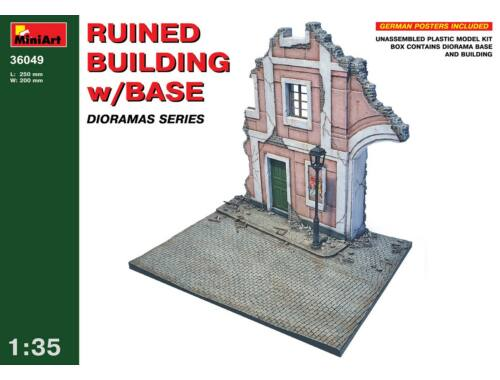 Miniart Ruined Building w/Base 1:35 (36049)