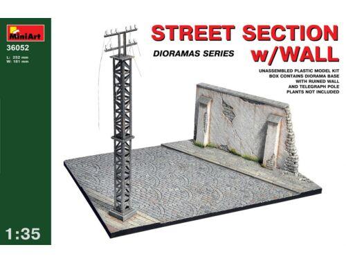 Miniart Street section w/Wall 1:35 (36052)