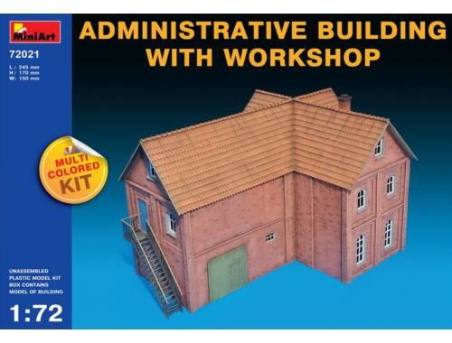 Miniart Administrative Building with Workshop 1:72 (72021)
