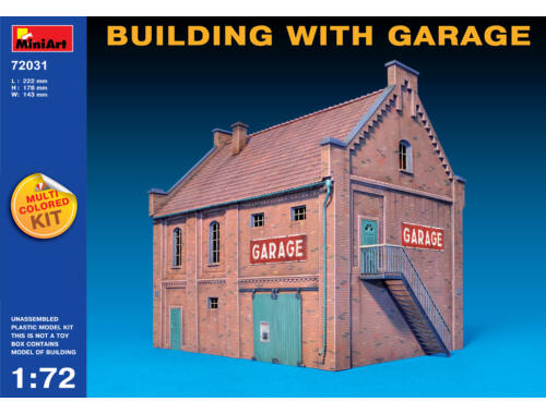 Miniart Building with Garage 1:72 (72031)