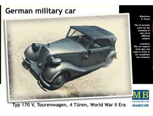 Master Box Germ. military car Typ 170V Tourenwagen 1:35 (35100)
