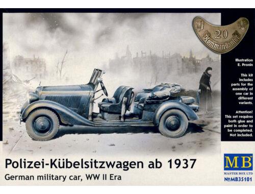 Master Box Polizei-Kubelsitzwagen ab 1937 mil. car 1:35 (35101)
