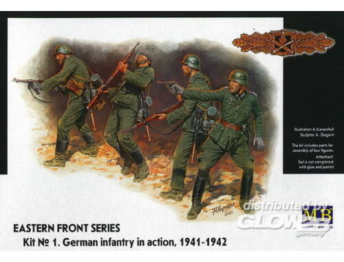 Master Box German Infantry in action 1941-1942 Eastern Front Series Kit No. 1 1:35 (3522)