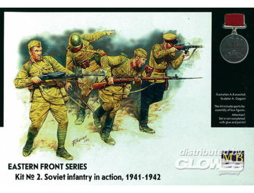 Master Box Soviet Infantry in action 1941-1942 Eastern Front Series 1:35 (3523)