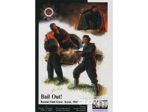 Master Box Bail Out! Russian Tank Crew Kursk 1943 1:35 (3532)