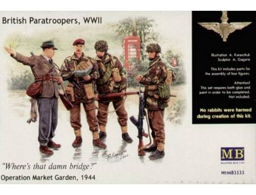 Master Box British Paratroopers WWII Operation Market Garden 1944 1:35 (3533)