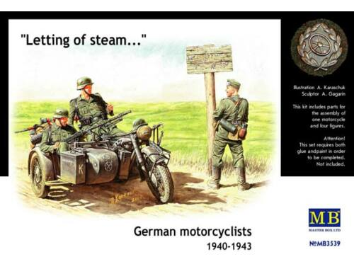 Master Box German Motorcyclists 1940-42 1:35 (3539)
