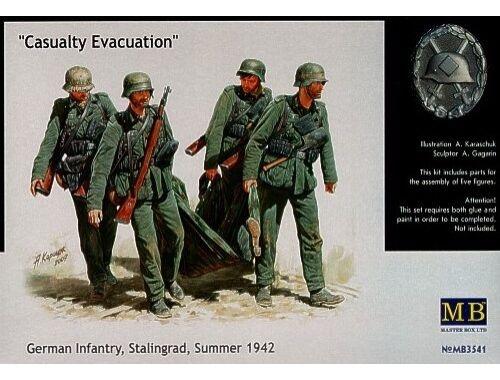 Master Box German Infantry Stalingrad Summer 1942 Casualty Evacuation 1:35 (3541)