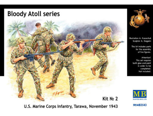 Master Box 'Bloody Atol' U.S. Marine Corps Infantry 1:35 (3543)