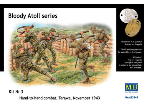 Master Box 'Bloody Atol' Hand-to-hand fight, Tarawa 1:35 (3544)