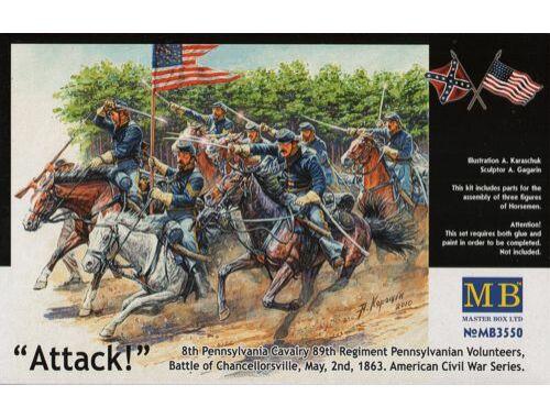 Master Box 8th Pennsylv. cavalry,Battle o.Chancello 1:35 (3550)