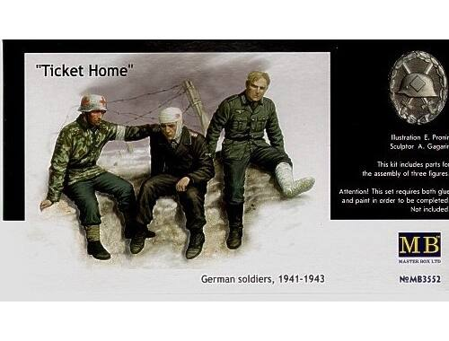Master Box Ticket Home wounded soldiers 1:35 (3552)