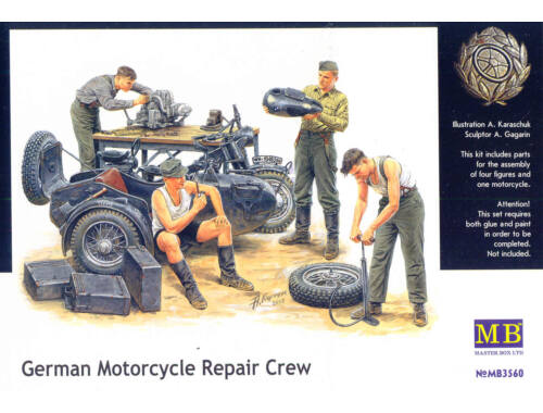 Master Box German Motorcycle repair team 1:35 (3560)