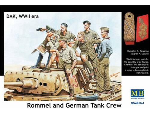 Master Box Rommel   German tank crew, DAK, WWII era 1:35 (3561)