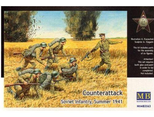 Master Box Counterattack, Soviet infantry, 1941 1:35 (3563)