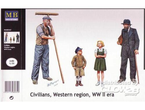 Master Box Civilians, Western region, WWII era 1:35 (3567)