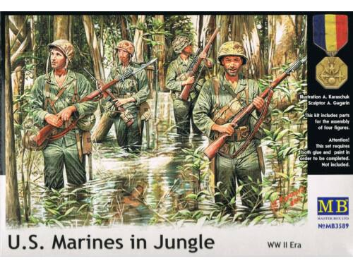 Master Box U.S. Marines in jungle, WWII era 1:35 (3589)