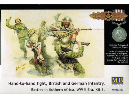 Master Box Hand-to-Hand fight, Brit.   Germ. infr. 1:35 (3592)