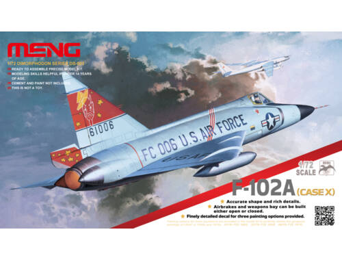Meng F-102A (Case X) 1:72 (DS-003)