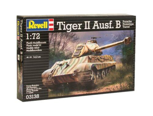 Revell Tiger II Ausf. B (Porsche Prototype Turret) 1:72 (3138)