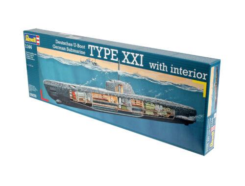 Revell German U-Boot Type XXI with interior 1:144 (5078)