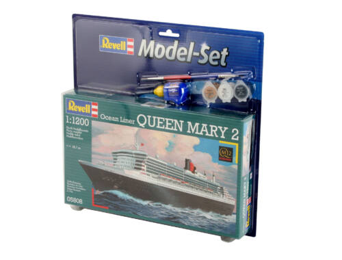 Revell Model Set Ocean Liner Queen Mary 2 1:1200 (65808)