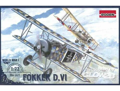 Roden Fokker D.VI World War 1 1:72 (007)