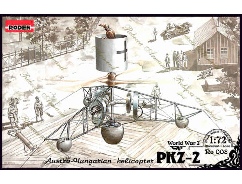 Roden PKZ-2 Austro-Hungarian Helicopter World War 1 1:72 (008)