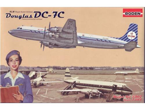 Roden Douglas DC-7C Royal Dutch Airlines (KLM) 1:144 (302)