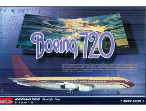 """Roden Boeing 720 Startship One""""Music series"""" 1:144 (314)"""